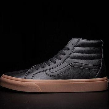 Vans SK8-HI  Leather Flats Sneakers Sport Shoes