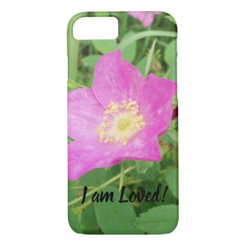 I am Loved Prickly Wild Rose iPhone 8/7 Case