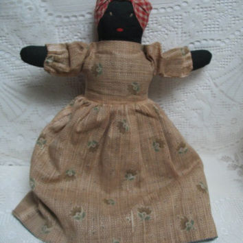 Vintage Topsy Turvy Doll Two Sided Cloth Doll  Folk Art Doll