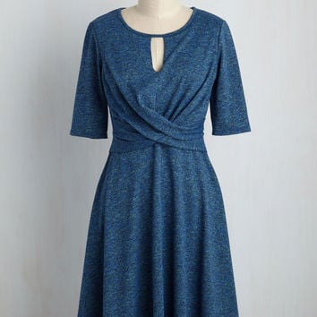 Grant You One Twist A-Line Dress | Mod Retro Vintage Dresses | ModCloth.com