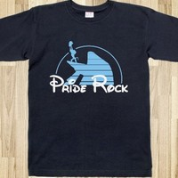 Pride Rock-Unisex Navy T-Shirt