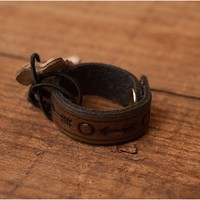 Embossed Leather Ring