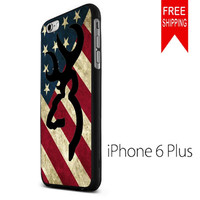 browning deer camo america flag KK iPhone 6 Plus Case