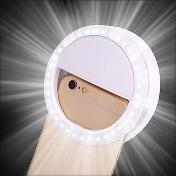 Universal Selfie LED Ring Flash Light,