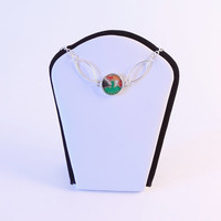 """Asian inspired washi necklace - motivational jewelry - """"Spread your wings and fly away"""" - featuring crane"""