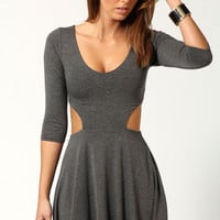 Hatty Cut Out Sides Skater Dress