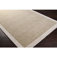 Madison Square Wool Area Rug in Safari Tan and Parchment design by Angelo Surmelis
