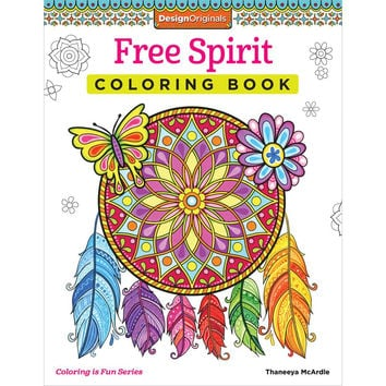Design Originals Free Spirit Adult Coloring book