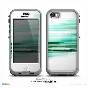 The Green Abstract Vector HD Lines Skin for the iPhone 5c nüüd LifeProof Case