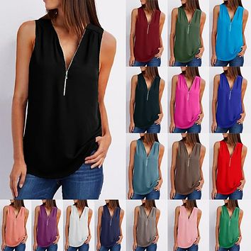 New Arrival Fashion Women Summer Tops Casual Sleeveless Tank Top Loose Plus Size Ladies Big Sizes Blouses Shirt Top 4XL 5XL