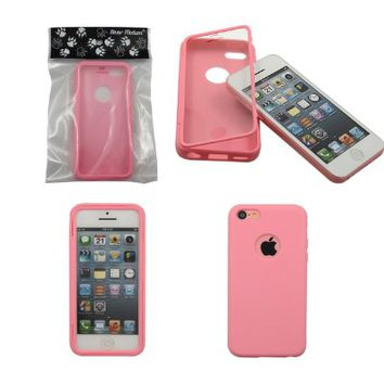 Bear Motion (TM) Premium Full Housing Case for iPhone 5C with Front and Back Protection and Built in Screen Protector for Apple iPhone 5C (Cotton Candy)