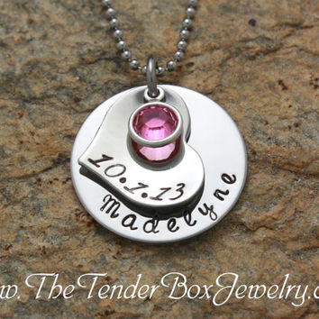 Free Shipping Personalized mothers necklace new mother new mom for one child newborn new baby adoption