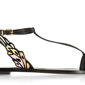 Sophia Webster Black & Pastel Talulah Flat Sandals