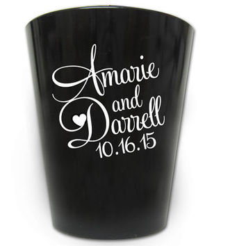150 Wedding Favors Personalized Plastic Shot Glasses New 2016 Custom Designs
