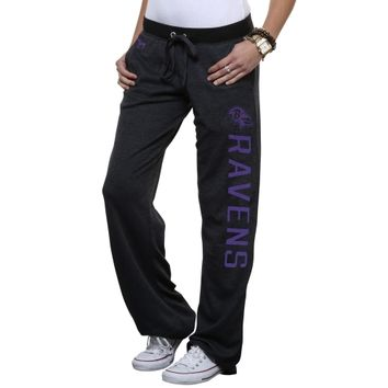 Victoria's Secret PINK Baltimore Ravens Ladies Boyfriend Pants - Charcoal