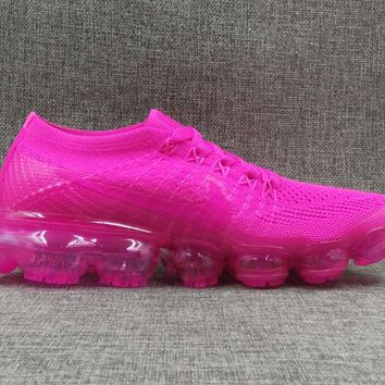 AUGUU Nike Air Max 2018 OFF WHITE Vapormax Flyknit Fashion Running Shoes Pink