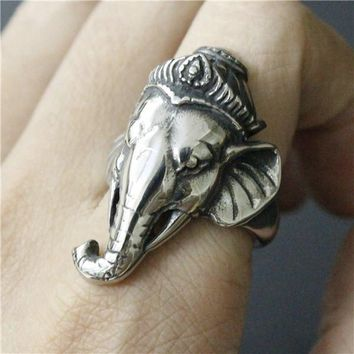 Elephant Tribal Ring