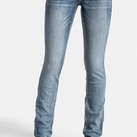 Thick Stitch Straight Leg Stretch Jeans - Medium Sandblast