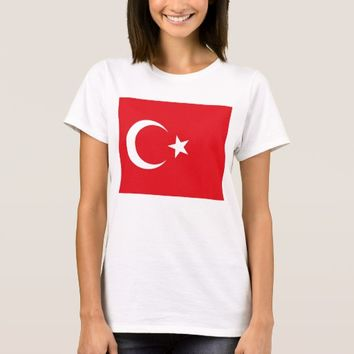 Women T Shirt with Flag of Turkey