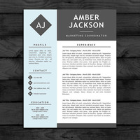 Resume Template / CV Template, Free Cover Letter, US letter / A4 Size, Instant Download, Customizable Word doc / docx