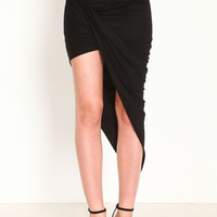 WRAP HIGH LOW SKIRT