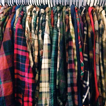 Mystery Vintage Flannel Shirt 70s 80s 90s