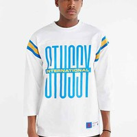 Stussy Classic Football Jersey Tee- White