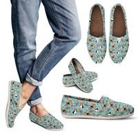 Basset Hound Flower Casual Shoes