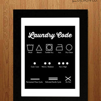 Printable Art - Laundry Room Decor - Laundry Guide - Instant Download - Digital Art