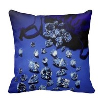 Fashion Blue Pillow Diamond Girl Girly Decor