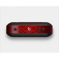 The Dark Red Spiral Pattern V23 Skin Set for the Beats Pill Plus