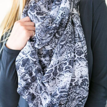 Snake Paths Infinity Scarf