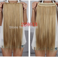 24inch 60cm 666 Ladies' Clip in On Hair Extensions Straight Synthetic Hairpiece = 5658499073