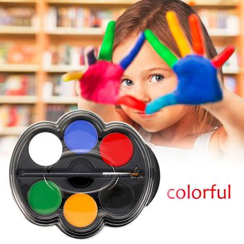Colorful Children Kids Face & Body Paint Kit 6 Colors/Set Halloween Makeup