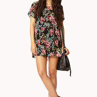 Flower Child Chiffon Tunic