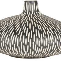 Asante Global-Inspired Table Vase Black, Beige