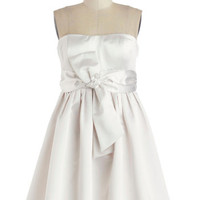 ModCloth Mid-length Strapless Fit & Flare Dreamy Does It Dress