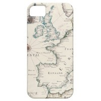Europe Portugal Antique Map Iphone 5 Case from Zazzle.com