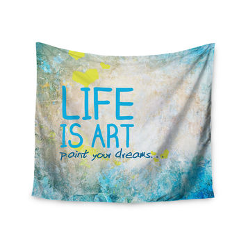 "KESS Original ""Life Is Art"" Wall Tapestry"