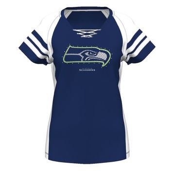 Seattle Seahawks Majestic Women's Draft Me VII T-Shirt – College Navy