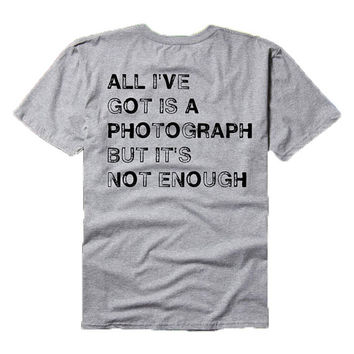All I've Got is a Photograph - Def Leppard lyrics - tee shirt