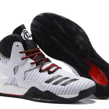 Classic Adidas D Rose 7 Primeknit White Black Grey Red Derrick Men's Basketball Shoes