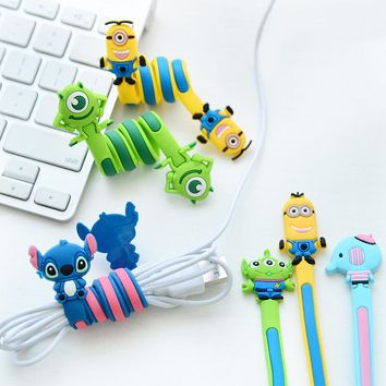 Silicone Cartoon Cable Winder Earphone Data Line Mouse Keyboard Cable Cord Organizer Holder Winder for Phone Computer