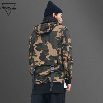 Hi Street Camouflage  Army Hooded Pullover