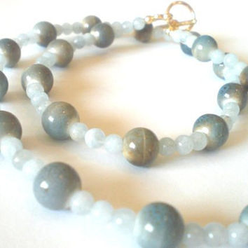 Ocean Breeze Blue Aquamarine Necklace