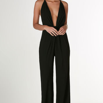 This Love Front Knot Jumpsuit