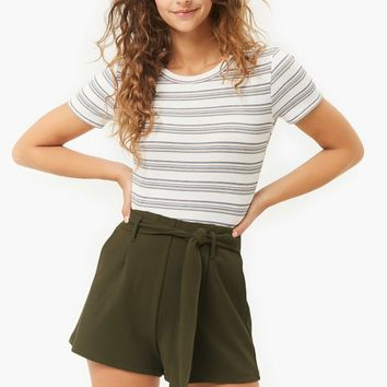Relaxed Belted Shorts