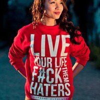 Live Life Crewneck from SupremeElements