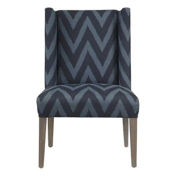 Campbell Side Chair, Navy/Indigo
