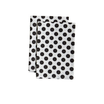 White and Black Polka Dot Cloth Napkin
